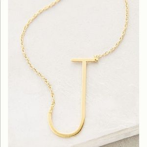 Block Letter Monogram Necklace Letter J